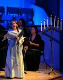 "Singing as the Angel in Gulfshore Opera's production of ""Laud to the Nativity"": Taken by Ivan Seligman"