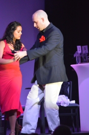 "Dancing tango in ""Speed Dating Tonight!"" with Gulfshore Opera"